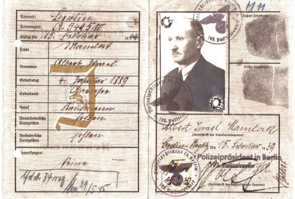 Jewish Identity Card: Albert Mamlock